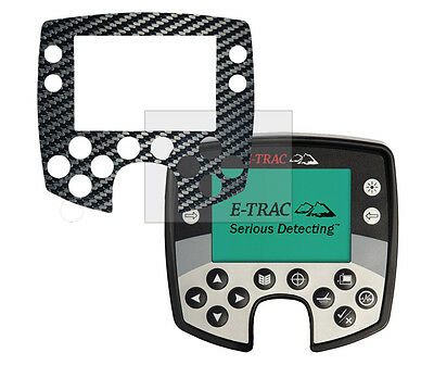 Minelab E-Trac Screen Protector & Fascia Overlay Carbon Black Finish