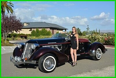 1936 Replica/Kit Makes Speedster  1936 AUBURN BOATTAIL SPEEDSTER RARE 5 SEAT BUILT IN '71 LOW MILES BEAUTIFUL COND