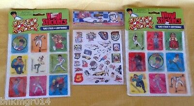 NIP Lot of (3) Speed Racer Stickers Paper and Puff Vinyl