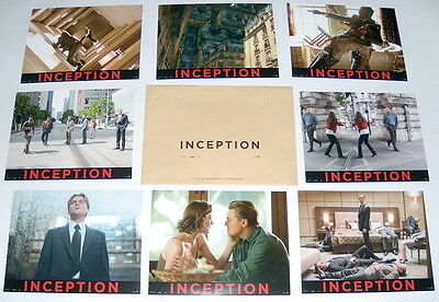 iNCEPTiON Nolan DiCaprio Gordon-Levitt  Marion Cotillard 8 FRENCH LOBBY CARDs