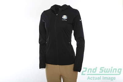 New Womens Nike 2016 Ryder Cup Shield Wind Jacket X-Large XL Black MSRP $90
