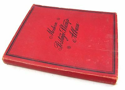 Antique 1925 Scott Modern Stamp Album w/ Stamps - Old Collection in Book