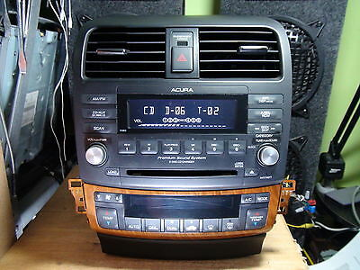 Acura TSX 2004-2008 6-disc CD player XM radio w/Climate Assembly 7HR0 w/Code