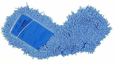Rubbermaid Commercial Twisted Loop Blend Dust Mop, 24-Inch, Blue, FGJ25300BL00