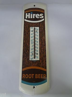 Hires Root Beer Soda Vintage Tin Thermometer Advertising Sign 824-V