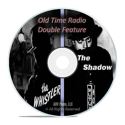 The Whistler, The Shadow, 550 Episodes, Old Time Radio Shows, OTR, MP3 DVD F60