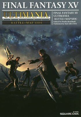 Final Fantasy XV Ultimania Battle + Map SIDE Book JAPAN guide art ps4 ff 15