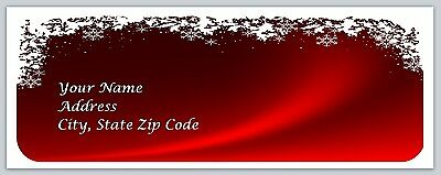 30 Personalized  Christmas Return Address Labels Buy 3 get 1 free (bo128)