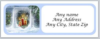 30 Personalized Address Labels Christmas Buy 3 get 1 free (ac166)