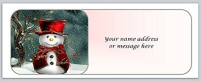 30 Personalized Christmas Return Address Labels Buy 3 get 1 free (bo672)