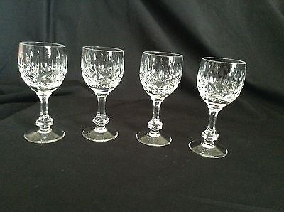 4 Exquisite CROSS & OLIVE CRYSTAL SHERRY LIQUER GLASSES in excellent condition!