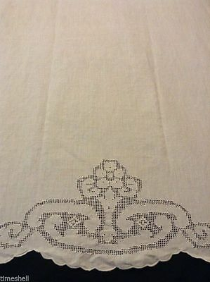 Lovely LINEN TOWEL 40X28.5 in Handworked Openwork Preowned but never used