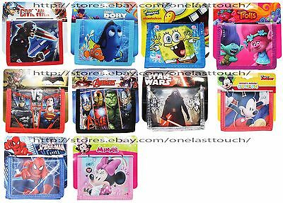 FAST FORWARD Pocket Bi-Fold CHARACTER WALLET Great For Kids *YOU CHOOSE* New!