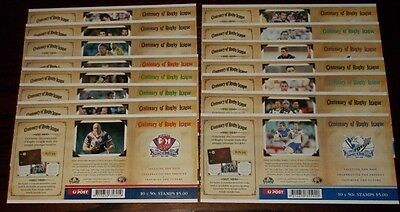 * Australia Post Stamp Booklets Centenary Of Rugby League - Select Booklet
