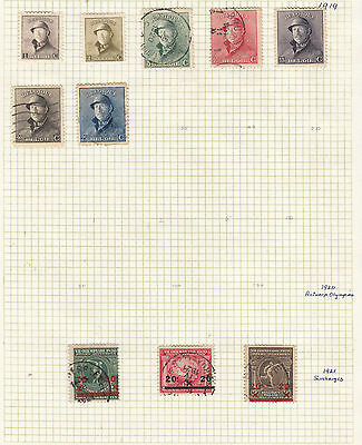 BELGUIM 1919-21 Collection On Old Album Page AS PER SCAN..