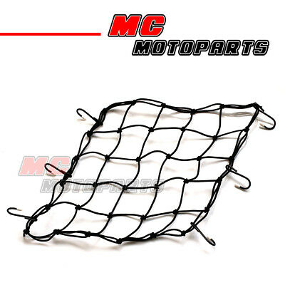Mesh Cargo Net Iron Hook Hold Helmet Luggage Rack For Motorcycle Vehicle 38x38mm