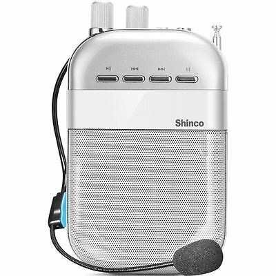 Shinco HC-06 Portable Voice Amplifier 5W Wired Mic 1800mAh Sliver