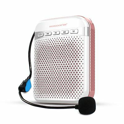 Newgood N350 Portable Voice Amplifier 8W PA System USB Charge 1800mAh Rose Gold