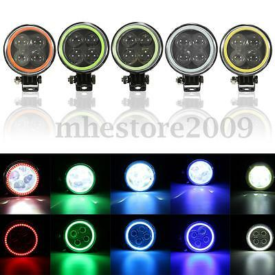 Round Epistar LED Work Light 4D Spot Beam Offroad Driving Fog Lamp Truck ATV 12W