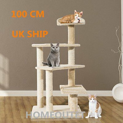 100CM Climbing Pet Toy Cat Tree Scratcher Scratching Post House Play Kitty Rest