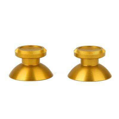 2pcs Gold Chrome Joystick Cap Cover Shell for Sony PS4 Xbox One Controller