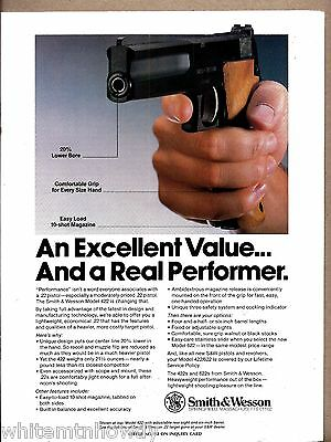 1989 SMITH & WESSON Model 422 .22 Pistol PRINT AD Collectible Advertising