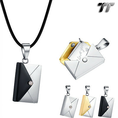 Quality TT Stainless Steel Envelope Pendant Necklace (NP344) NEW