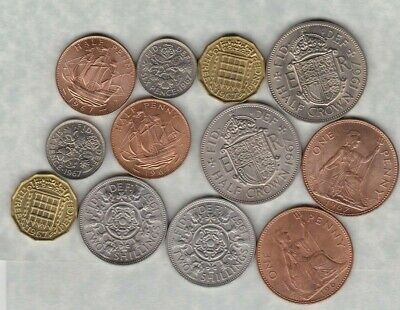 1967 Elizabeth Ii Set Of 6 Coins In Mint Condition