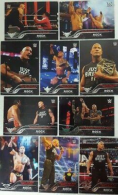 "WWE 2016 "" THE ROCK TRIBUTE "" CARD Set of 10   Then Now Forever  # 31 - 40"