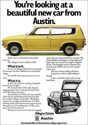 Austin Allegro Estate Retro A3 Poster Print From Classic 70's Advert