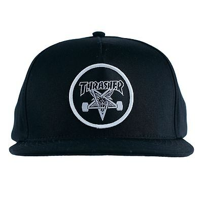Thrasher Skate Goat Snapback Hat Black Cap One Size Fits Most New