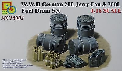 CLASSY HOBBY MC16002 WWII German 20L Kanister & 200L Fässer in 1:16
