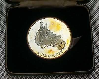 1975 News Of The World Grand National 925 Silver Medal L'escargot  Boxed & Coa
