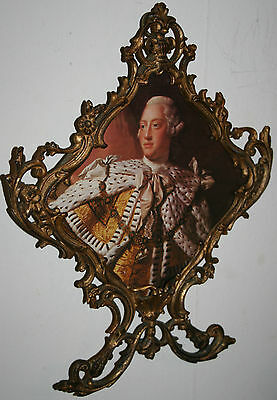 Antique Ornate Gold Gilt Metal French Photo/ Picture Frame Old Baroque Rococo
