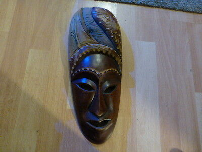 Hand Carved Wooden Mask from carribean