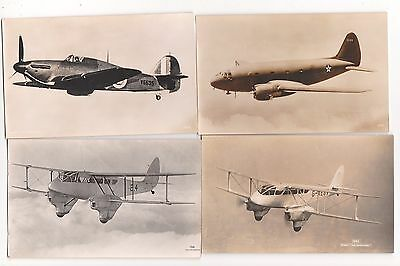 Aviation, Postcard Size Photos, A Collection Of Four Aircraft, Lot C