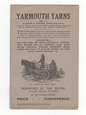 Booklet, Yarmouth Yarns, ( No 1 ), By Harry B. Johnson, 1927