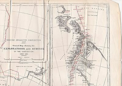 Map Of The Shackleton British Antarctic Expedition, 1907