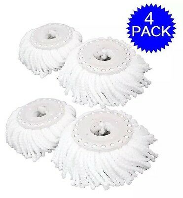 Lot Of 4 Replacement Mop Micro Head Refill Hurricane For 360° Spin Magic Mop