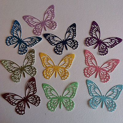 10 X Beautiful Self Adhesive Glitter Butterfly Die Cuts-Fairy Jars Decor Insects