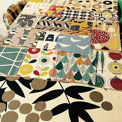 1M + FABRIC PACK Pieces Designer Bundle Scandinavian 50's vintage style organic