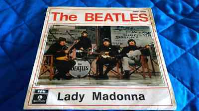 """Beatles 7"""" The Beatles (45 Rpm) Qmsp 16423 Lady Madonna """"alternate Import Cover"""""""