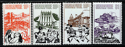 SINGAPORE Queen Elizabeth II 1973 Singapore Landmarks Set SG 193 to SG 196 MINT