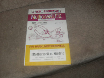 Motherwell v Airdrie 1/1/65
