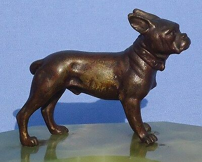 Antique French Bulldog Bronze Vienna Austria Ring Tray