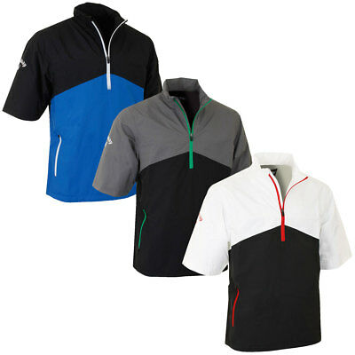 Callaway Golf Mens Half Sleeve Waterproof 1/4 Zip Playing Top Rain Jacket
