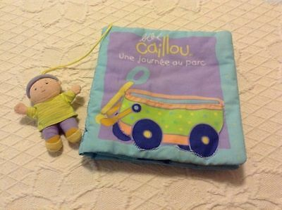 CAILLOU CLOTH BOOK & DOLL Une Journee au Parc DOLL TUCKS INTO PICS 7.5x7in NICE