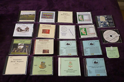 Bundle of 18 Genealogy CD's-Hampshire-Wilts-Bucks etc-Burials,Baptisms,Census