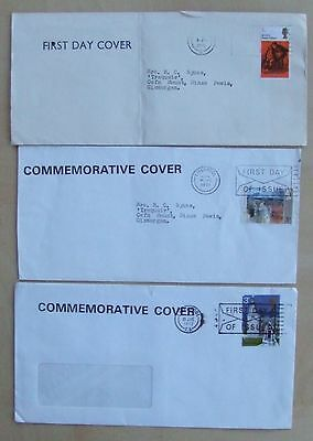 Three GB First Day Covers 1970-72