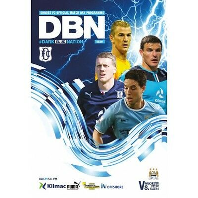 Dundee FC v Manchester City 13/7/2014 match programme Angus Trophy Centre Trophy